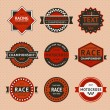 Racing badges - vintage style — Vettoriali Stock