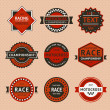 Racing Badges - Vintage-Stil — Vektorgrafik