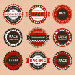 Royalty-Free Stock Vector Image: Racing insignia - vintage style