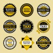 Taxi labels - vintage style — Stock Vector