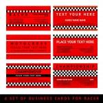Постер, плакат: Business card driver race fourth set