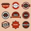 Racing badges, vintage style — Stock Vector