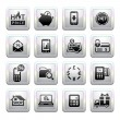 Shopping Icons. Gray. Web 2.0 icons — Stock Vector