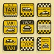Stock Vector: Taxi insignia, old style