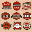 Racing badges set - vintage style — Stock Vector #24835981