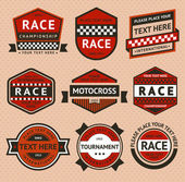 Racing badges set - vintage style — Stock Vector