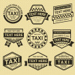 Taxi labels set, vintage style — Stock Vector