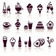 Set food icons — Stockvectorbeeld