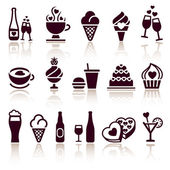 Set food icons — Stock Vector