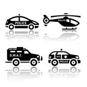 Set of transport icons - Police part 2 — Stock Vector