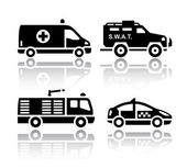 Set of transport icons - Rescue — Stock Vector