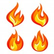 Fire flames — Stock Vector