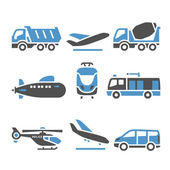 Transport Icons - A set of eleventh — Stock Vector