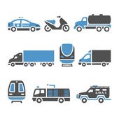 Transport Icons - A set of eighth — Stock Vector