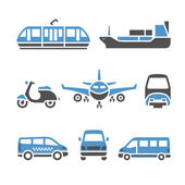 Transport Icons - A set of ninth — Stock Vector