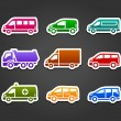 Set of sticky stickers, transport color signs — Stock Vector