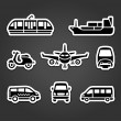Set of stickers, transport signs — Stock Vector