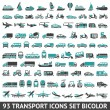 93 Transport icons set bicolor — Stock Vector