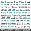 93 Transport icons set bicolor — Stock Vector #31243215