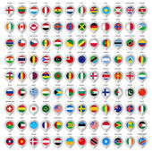 108 Map gray marker with flags. Big set — Stock Vector