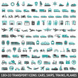 100 AND 20 Transport icon — Imagen vectorial