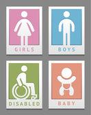 Toilet stickers — Stock Vector