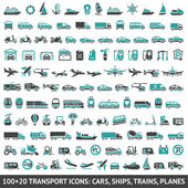 100 y 20 transporte icono — Vector de stock