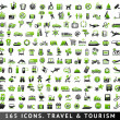165 bicolor icons. Travel and Tourism — Stock Vector