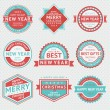 Set badges for Christmas cards — Stock Vector #35783453