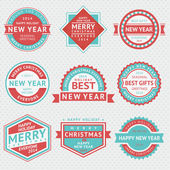 Set badges for Christmas cards — Stock Vector