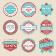 Set stickers and badges for Christmas cards — Stock Vector #35790443