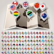 Map world with flags. Big paper set — Stock Vector #38838159