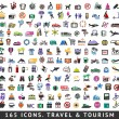 165 colors icons. Travel and Tourism — Stock Vector #38844319