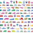 104 Transport icons set stickers — Stock Vector