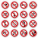 Set Prohibited symbols — Stock Vector
