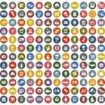 144 icons retro color — Stock Vector #41688901