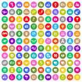 Conjunto de iconos de círculo de color de día de san valentín — Vector de stock