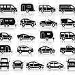 Set of transport black icons — Stock Vector #41732715