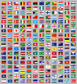216 Flags of the world — Vettoriale Stock