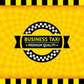Taxi symbol with checkered background - 01 — Stockvektor