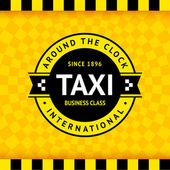 Taxi symbol with checkered background - 02 — Stock Vector