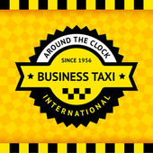 Taxi symbol with checkered background - 03 — Stock Vector
