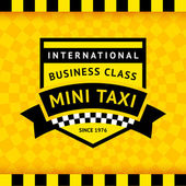 Taxi symbol with checkered background - 04 — Stockvektor