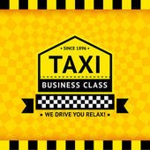 Taxi symbol with checkered background - 06 — Stockvektor