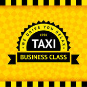 Taxi symbol with checkered background - 07 — Stockvektor