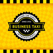 Taxi symbol with checkered background - 10 — Stock Vector
