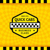Taxi symbol with checkered background - 11 — Stockvektor