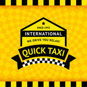 Taxi symbol with checkered background - 12 — Stock Vector