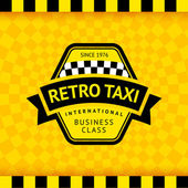 Taxi symbol with checkered background - 17 — Stockvektor