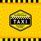 Taxi symbol with checkered background - 18 — Stockvektor